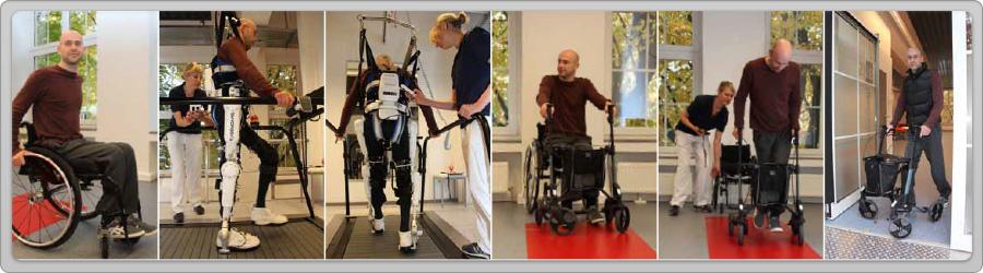 HAL терапия в Германии - реабилитация опорно-двигательного аппарата с помощью экзоскелета HAL. Фото
