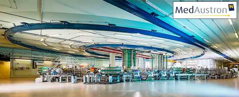 MedAustron - одна из немногих клиник ионной терапии в мире, где в качестве ускорителя тяжелых заряженных частиц используется синхротрон, позволяющий проводить эффективное лечение как протонами, так и ионами углерода. Фото