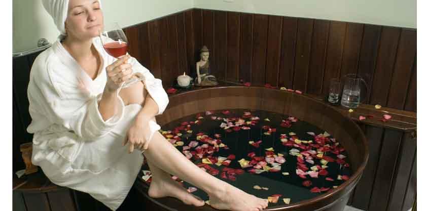 лечение вином. фото