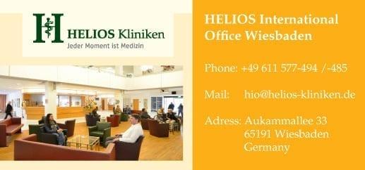 Контакты клиники Helios Wiesbaden в Германии. Фото