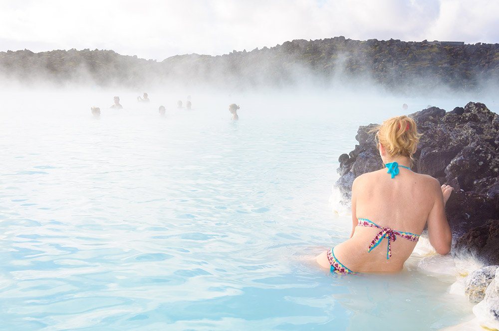 Геотермальный курорт Blue Lagoon в Гриндавике - Исландия. Фото