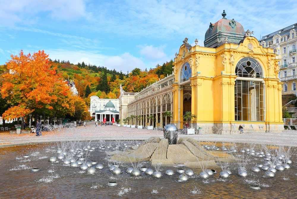Курорт Марианске-Лазне в Чехии. Фото